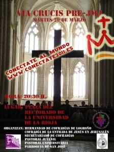 Cartel del viacrucis por la Universidad de La Rioja 29 marzo de 2011